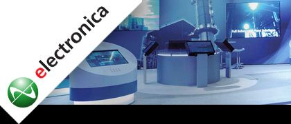 "Stand per fiera ELECTRONICA"" border="